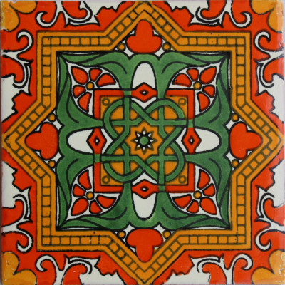 6x6 4 pcs Galicia Talavera Mexican Tile Wall And Floor Tile by