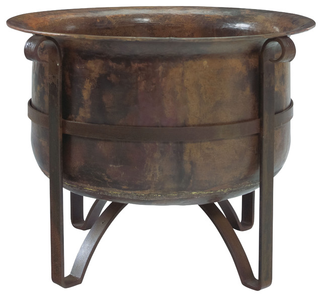 Handcrafted Rustic Acadia Outdoor Fire Pit 100 Copper