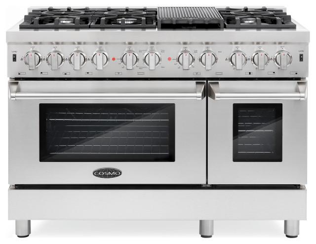 48 6 Burner Gas Range with Double Oven LP Conversion Kit Bundle