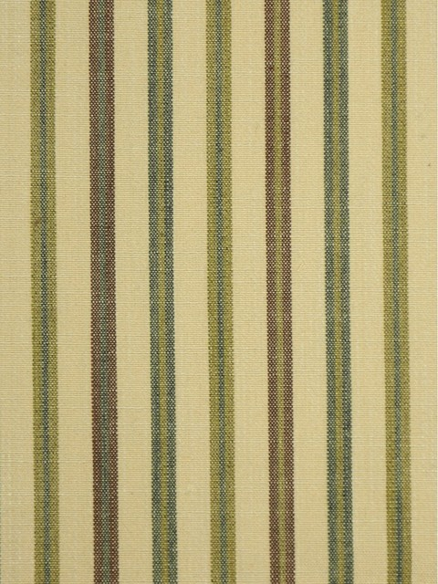 Beige and Green Striped Cotton Fabrics
