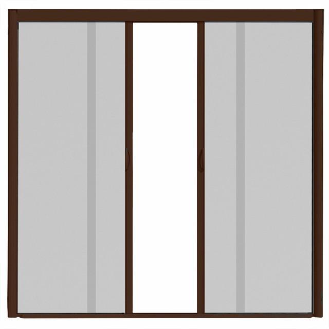 Visiscreen double panel retractable screen door modern for Modern screen door
