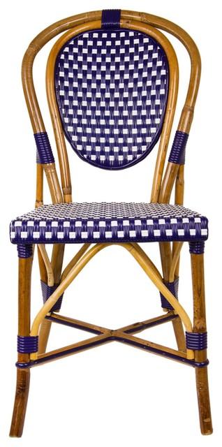 Brilliant Navy Blue And Cream Mediterranean Bistro Chair E Inzonedesignstudio Interior Chair Design Inzonedesignstudiocom