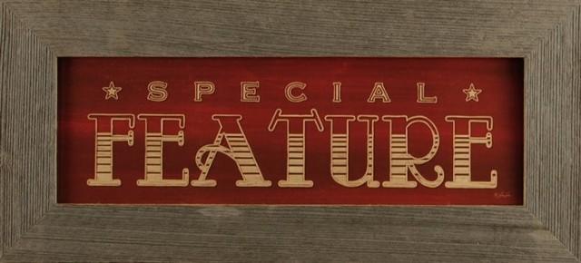 Special Feature Primitive Rustic Media Room Wall Decor Sign 22x10