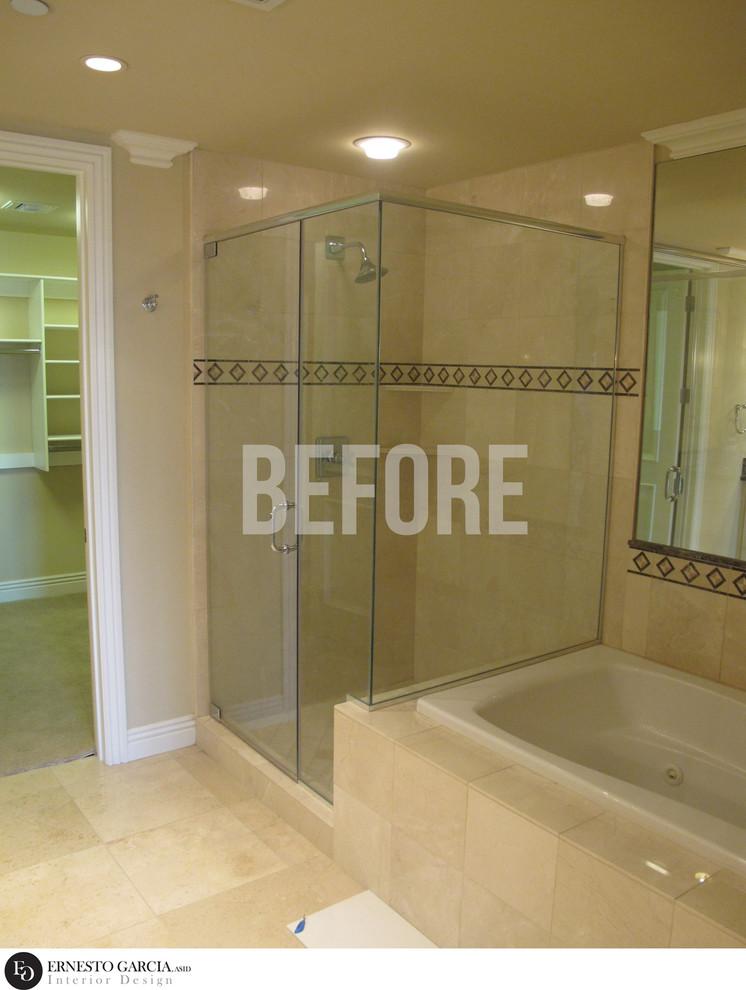 MASTER BATHROOM SHOWER - BEFORE