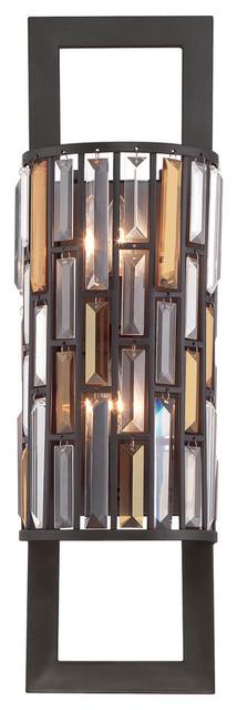 Gemma 2-Light Contemporary Wall Light, Vintage Bronze