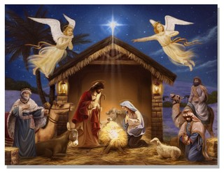 Lighted Canvas Quot Nativity Quot Contemporary Prints And