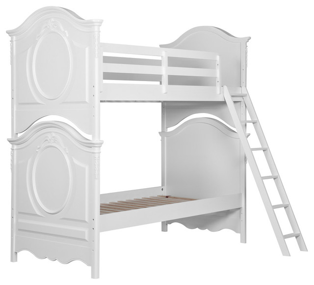 Samuel Lawrence Sweetheart Youth Twin Bunk Bed, White.