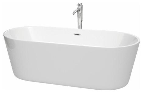 Wyndham Collection Wcobt101271atp11 Carissa Freestanding Soaking Tub.