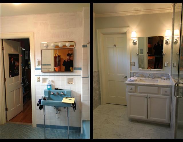 Chevy chase 1950 39 s bathroom remodel traditional for Bath remodel cincinnati