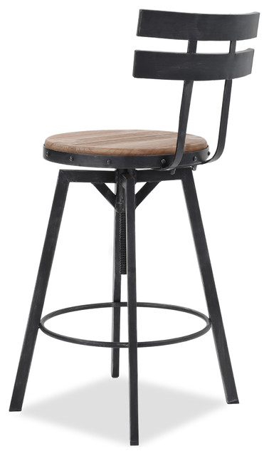 Gdf Studio Modern Industrial Design Counter Bar Stool Adjustable Seat Height Industrial Bar Stools And Counter Stools By Gdfstudio