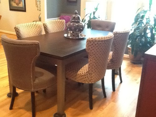 Before after dining room table for Dining room tables south africa