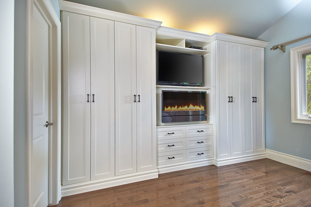White Wall Unit antique white wall unit - contemporary - toronto -space