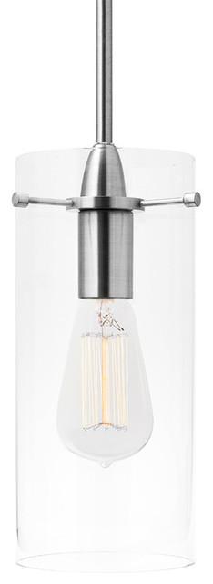 Effimero 1-Light Stem Hung Pendant Lamp, Brushed Nickel