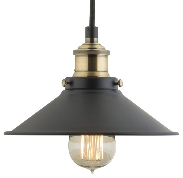 Andante Industrial Factory Pendant, Antique Brass Industrial Pendant  Lighting
