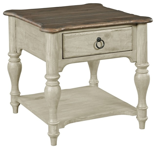 Kincaid Kincaid Weatherford End Table Cornsilk Finish View In Your Room Houzz