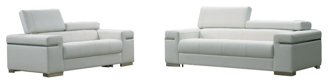 J M Soho Leather Sofa Set Gray