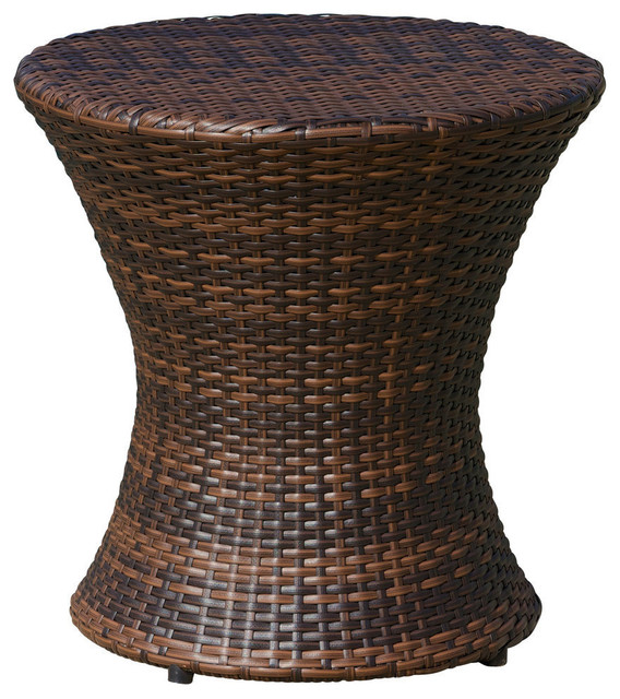 Townsgate Outdoor Boho Wicker Accent Table