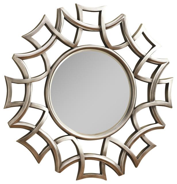 Coaster Starburst Accent Mirror Silver Finish