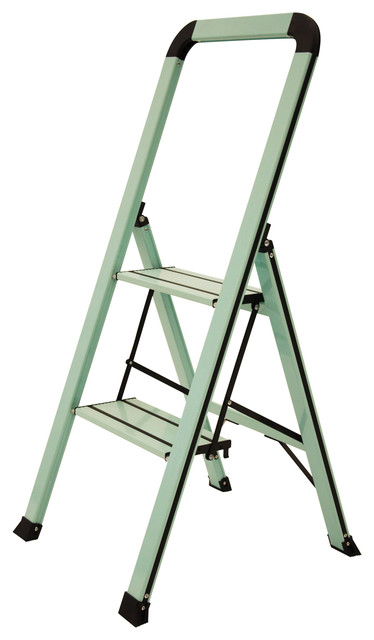 Designer Series Slim 2-Step Ladder, Teal.