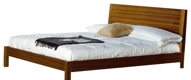 Alpha Bed In Teak Finish (king).