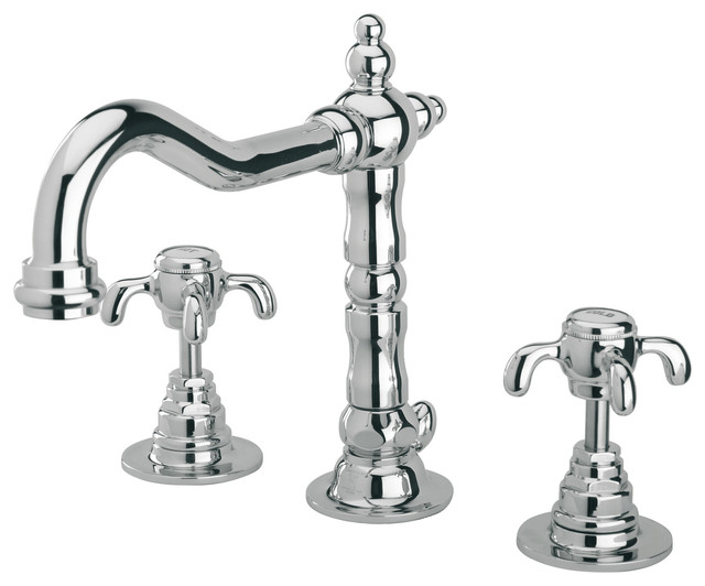 Signature Hardware Victorian Widespread Bathroom Faucet: Latoscana Ornellaia Widespread Faucet With Cross Handles
