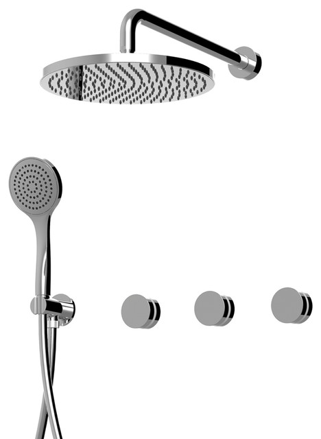 Myring Concealed Shower Head With Hand-Shower