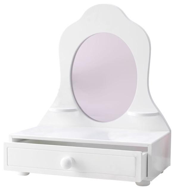 White Tabletop Vanity Transitional Kids Bedroom Vanities