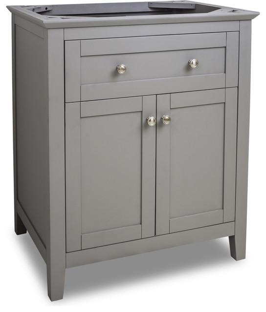 VAN102 X Grey Chatham Shaker Vanity Base In Grey Traditional Bathroom Van