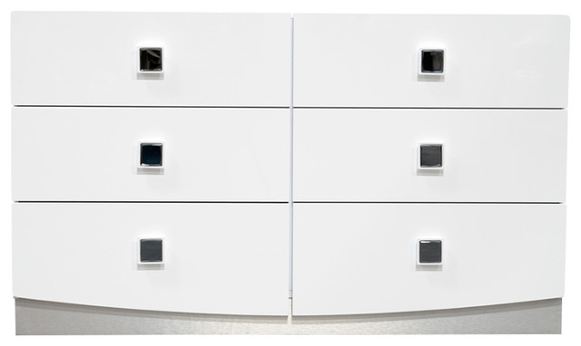 france modern high gloss 6drawer dresser white