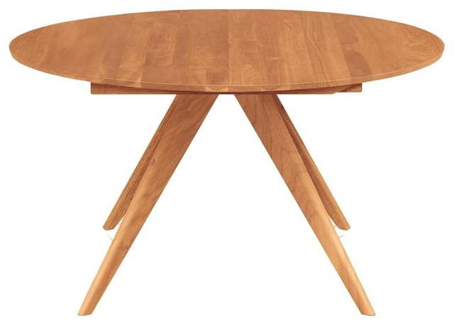 Copeland Furniture Catalina Round Extension Dining Tables, Natural Cherry