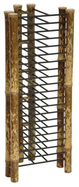 Japanese Bamboo Vertical CDDVD Rack Traditional Media Racks