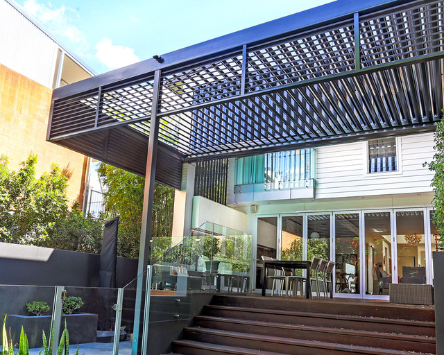 Outdoor Room ExtensionEntertainment Area Contemporary Brisbane By Vanguard Blinds