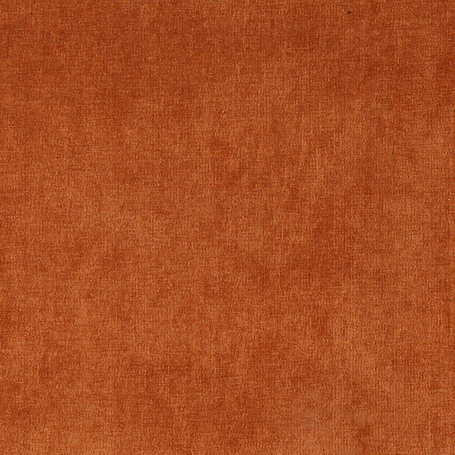 Copper Red Solid Woven Velvet Upholstery Fabric By The Yard