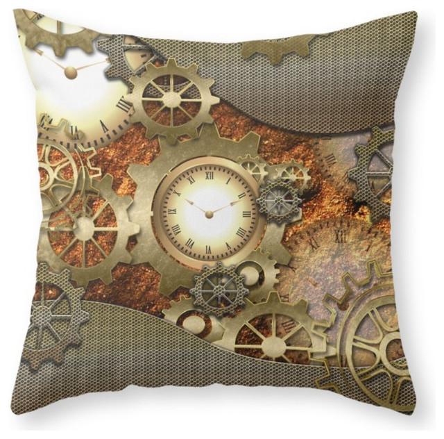 Society6 Society6 Steampunk Throw Pillow Decorative