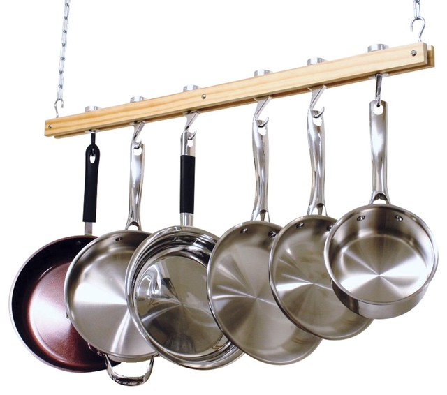 pots pans rack pot contemporary racks accessories hanging wall