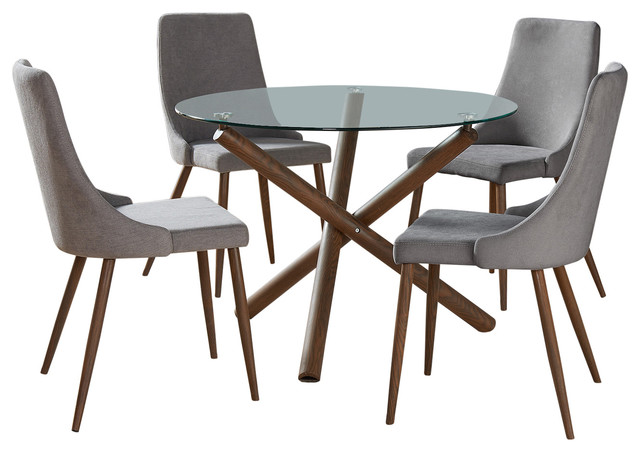 Contemporary Glass Round Dining Table Midcentury Dining Tables By Hedgeapple