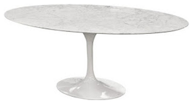 Fine Mod Imports Flower Marble Table Oval 60 White  : dining tables from www.houzz.com size 640 x 344 jpeg 15kB