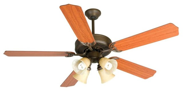 "Craftmade Ceiling Fan, Aged Bronze Cd Unipack With 52"" Blades."