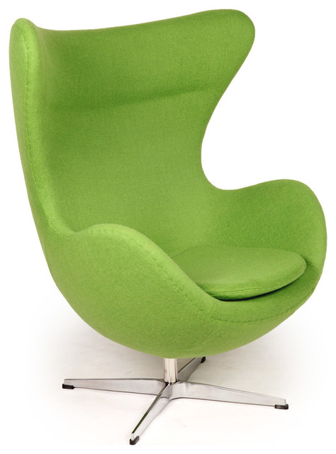 Egg Chair Accent Chairs.Cashmere Wool Upholstery Egg Chair Apple Green Boucle