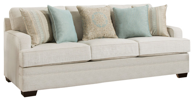 Simmons Upholstery Celine Parchment Sofa.