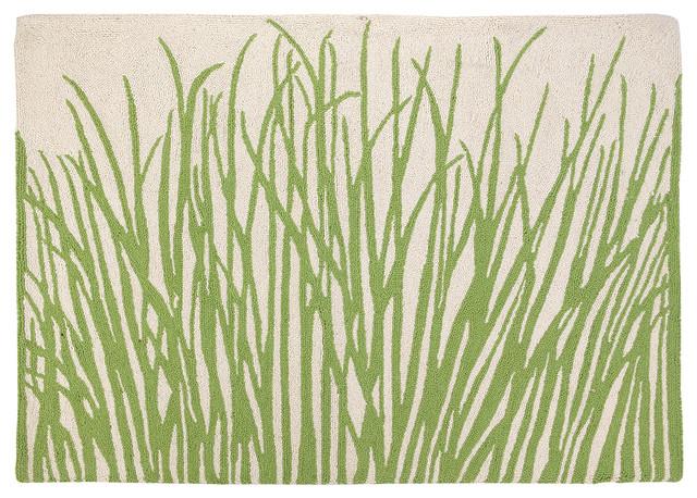 """Sea Grass Hook Rug34x47""""."""