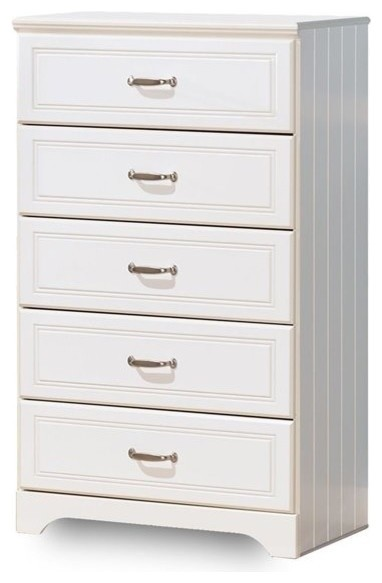 Ashley Lulu 5-Drawer Wood Chest, White.