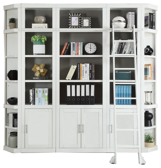 Parker House Catalina 5-Piece Library Wall In White, 3.