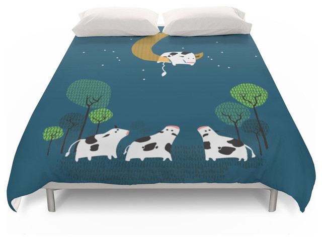 Society6 A Cow Jump Over The Moon Duvet Cover Farmhouse Duvet Covers And