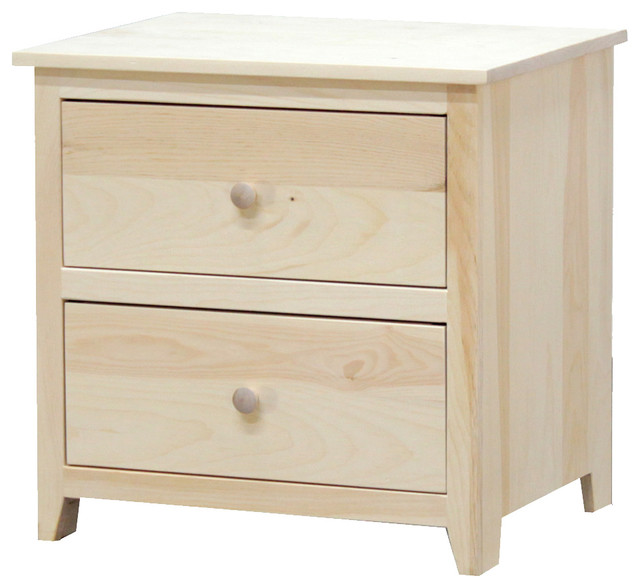 Little Neck Nightstand 18x24x24 Pine Wood Unfinished