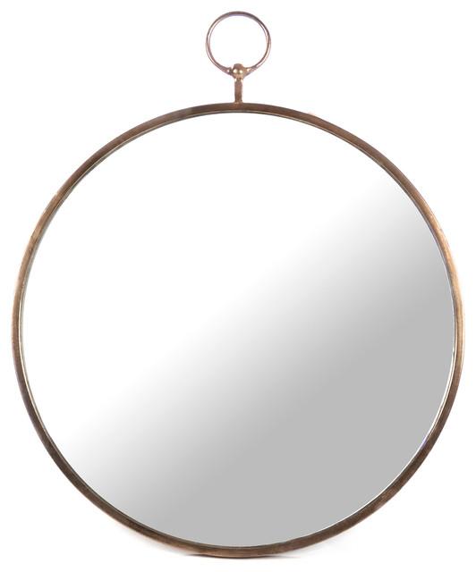 Nottingham Hollywood Regency Large Thin Round Wall Mirror.