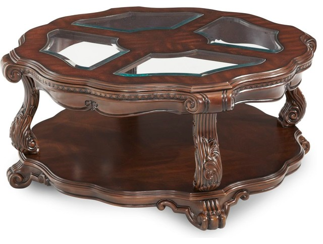 Aico Michael Amini Palace Gates Round Cocktail Table Victorian Coffee Tables By Unlimited