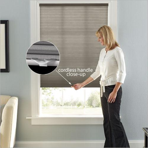 cordless graber 3 8 single cell light filtering shade from blinds com traditional cellular. Black Bedroom Furniture Sets. Home Design Ideas