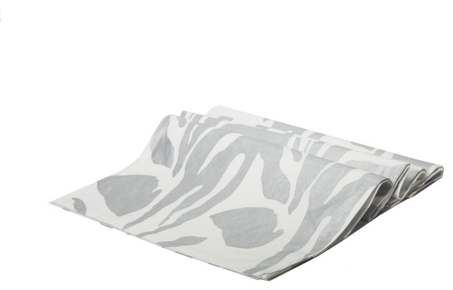 Silver Animal Print Table Runner Contemporary Table Runners