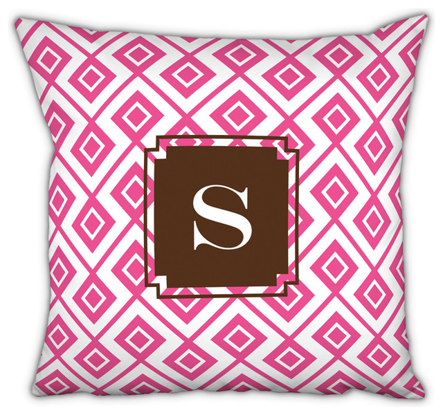 Square Pillow Lucy Single Initial, Letter A